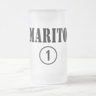 Italienische Ehemänner: Marito Numero UNO Matte Glastasse