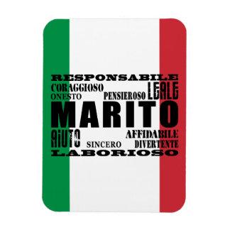 Italienische Ehemänner: Qualitäten Vinyl Magnete