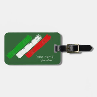 Italienische flag.brush Anschläge. Name .text. Kofferanhänger