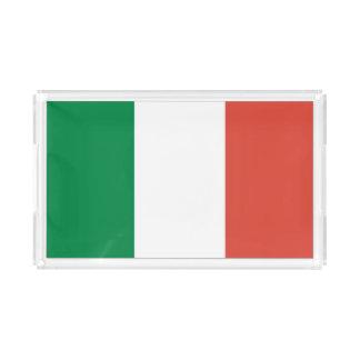 italienische Flagge Acryl Tablett