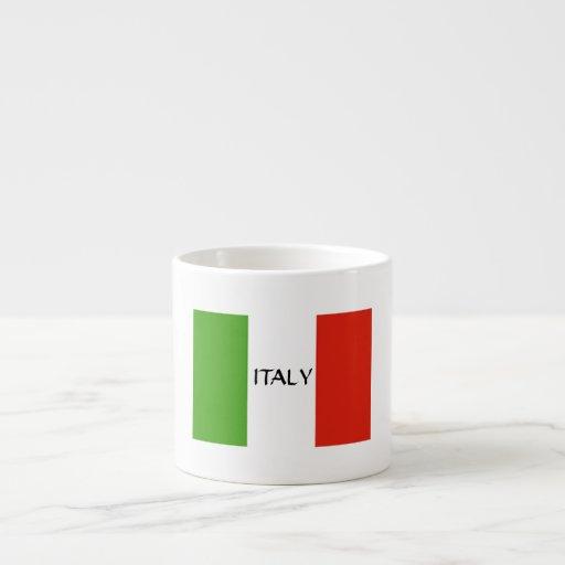 italienische flagge expresso tasse espressotassen zazzle. Black Bedroom Furniture Sets. Home Design Ideas
