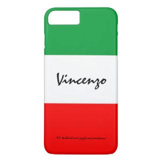 Italienische Flagge färbt grünes weißes und Rot iPhone 8 Plus/7 Plus Hülle