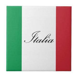 Italienische Flagge - Flagge von Italien - Italien Fliese