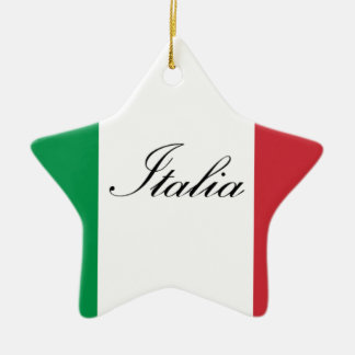 Italienische Flagge - Flagge von Italien - Italien Keramik Ornament