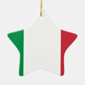 Italienische Flagge - Flagge von Italien - Italien Keramik Stern-Ornament