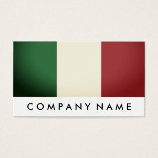 Italienische Flagge, Italien Visitenkarte
