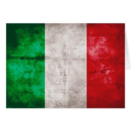 Italienische Flagge Grußkarte