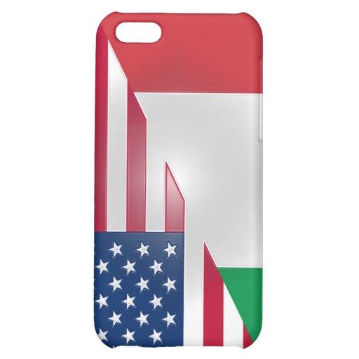 Italienische Flagge-klebriger Apple iPad Fall iPhone 5C Hülle