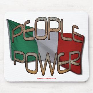 ITALIENISCHE FLAGGE Leute-Power-Unabhängigkeits-Mo Mousepad