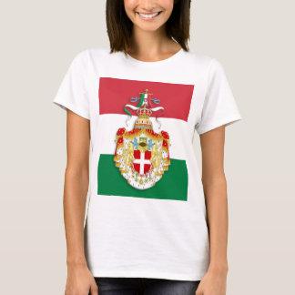 Italienische Flagge mit Insignien des Königreiches T-Shirt