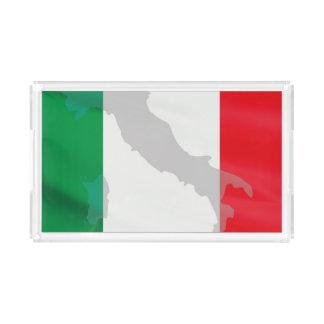 italienische Flagge und Italien Acryl Tablett