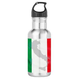 italienische Flagge und Italien Edelstahlflasche