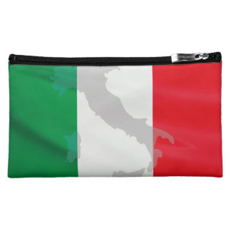italienische Flagge und Italien Kosmetiktasche