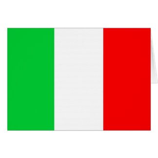 Italienische Flaggen-Schablone Grußkarte