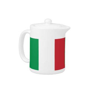 Italienische Flaggen-Teekanne