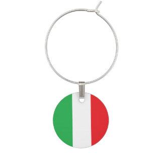 """""""Italienische Flaggen-"""" Wein-Charme Glas Markierung"""
