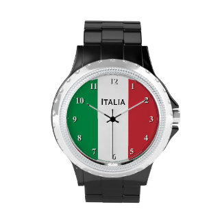 Italienische Flaggenarmbanduhr für Männer und Frau Handuhr