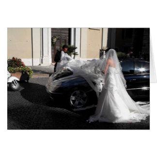 Italienische Hochzeit in Torri Del Benaco, Italien Grußkarte