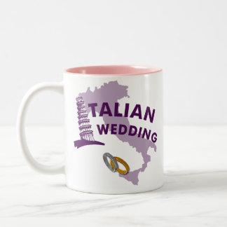 Italienische Hochzeits-Kaffee-Tasse Zweifarbige Tasse