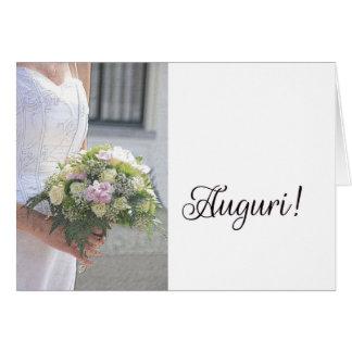 italienische Hochzeitsglückwünsche Grußkarte