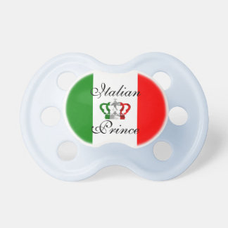 Italienische Italiener-Flagge Prinz-Vintage Crown Schnuller