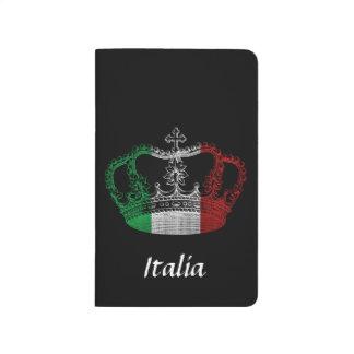 Italienische Kronen-Flaggen-Zeitschrift Taschennotizbuch