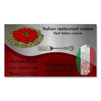Italienische Küche Visitenkartenmagnet