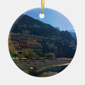 Italienische Küste Rundes Keramik Ornament