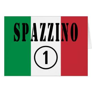 Italienische Müllmänner: Spazzino Numero UNO Karte