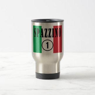 Italienische Müllmänner: Spazzino Numero UNO Reisebecher
