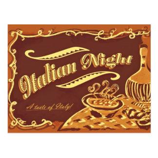 Italienische Nachtpostkarte Postkarte