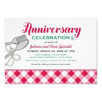 Italienische Nahrung der Hochzeitstag-Einladungs-| 12,7 X 17,8 Cm Einladungskarte