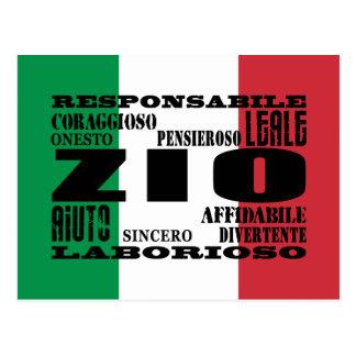 Italienische Onkel: Qualitäten Postkarte