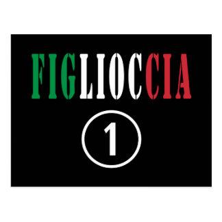 Italienische Patenttöchter: Figlioccia Numero UNO Postkarte