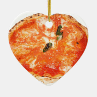 Italienische Pizza Margherita Keramik Ornament