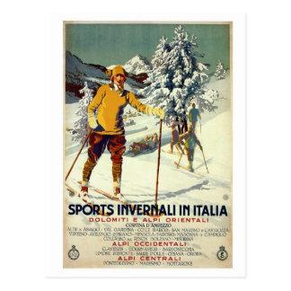 Italienische Reise der Vintagen Zwanzigerjahre Postkarte
