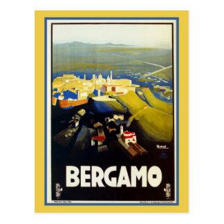 Italienische Reise Vintage Zwanzigerjahre Bergamos Postkarte