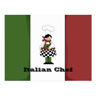 Italienische Rezept-Karte des Kochs-#8 Postkarte