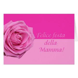 Italienische Rosenkarte der Mutter Tages Karte