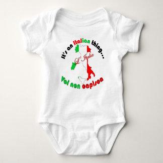 Italienische Sache Baby Strampler