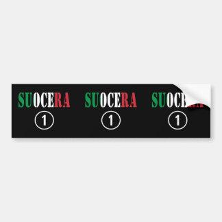 Italienische Schwiegermütter: Suocera Numero UNO Autoaufkleber