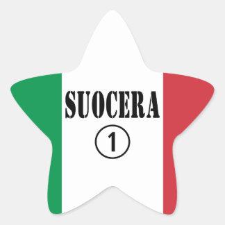 Italienische Schwiegermütter: Suocera Numero UNO Stern Aufkleber