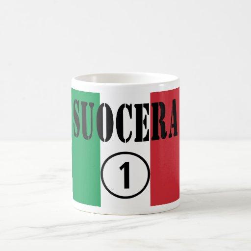 Italienische Schwiegermütter: Suocera Numero UNO Teehaferl