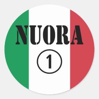 Italienische Schwiegertöchter: Nuora Numero UNO Runder Sticker