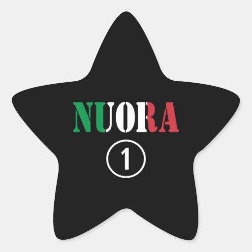 Italienische Schwiegertöchter: Nuora Numero UNO Stern Aufkleber