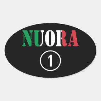 Italienische Schwiegertöchter: Nuora Numero UNO Ovaler Aufkleber