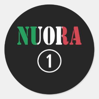 Italienische Schwiegertöchter: Nuora Numero UNO Runder Aufkleber