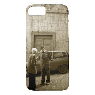 Italienische Straßenszene in Sepia iPhone 7 Fall iPhone 8/7 Hülle