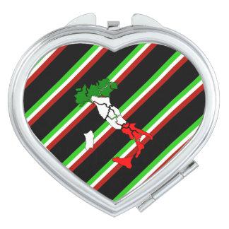 Italienische Streifenflagge Taschenspiegel