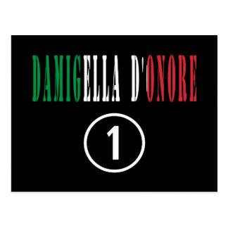 Italienische Trauzeuginnen: Damigella D'Onore Postkarten
